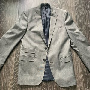 Zara Man Light Gray Tailored Fit Blazer - Size 38